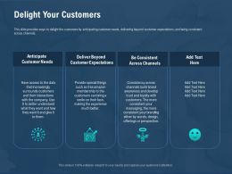 Delight Your Customers Smile On Their Ppt Powerpoint Presentation Model Smartart