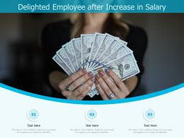 Delighted Employee After Increase In Salary