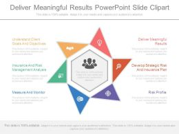 Deliver Meaningful Results Powerpoint Slide Clipart