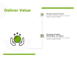 Deliver Value Manage Channel Partner Managing Retailing Ppt Powerpoint Presentation Files