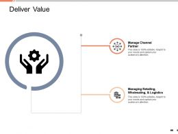 Deliver Value Manage Channel Partner Ppt Powerpoint Presentation Download