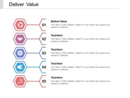 Deliver Value Ppt Powerpoint Presentation Gallery Design Templates Cpb