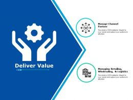 Deliver Value Ppt Powerpoint Presentation Gallery Example