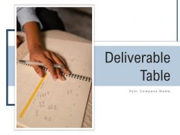 Deliverable Table Business Document Requirements Planning Structure Resources