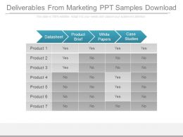 Deliverables From Marketing Ppt Samples Download