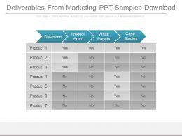 Deliverables From Marketing Ppt Samples Download