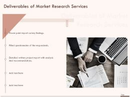 Deliverables Of Market Research Services Ppt Powerpoint Presentation Infographics Show