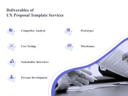 Deliverables Of UX Proposal Template Services Ppt Powerpoint Slide