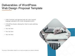 Deliverables Of Wordpress Web Design Proposal Template Powerpoint Presentation Slides