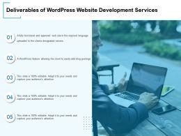 Deliverables Of WordPress Website Development Services Ppt Powerpoint Presentation Graphics