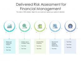 Delivered Risk Assessment For Financial Management