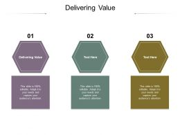 Delivering Value Ppt Powerpoint Presentation Professional Ideas Cpb