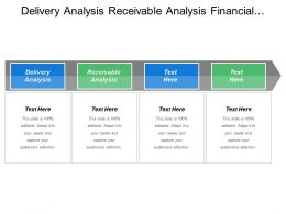 Delivery Analysis Receivable Analysis Financial Analysis Sales Management