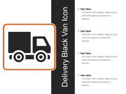 Delivery Black Van Icon