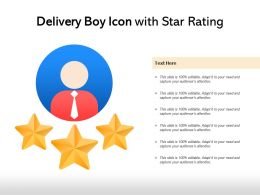 Delivery Boy Icon With Star Rating
