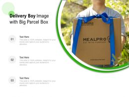 Delivery Boy Image With Big Parcel Box