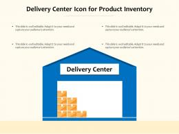 Delivery Center Icon For Product Inventory
