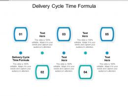 Delivery Cycle Time Formula Ppt Powerpoint Presentation File Guidelines Cpb