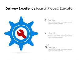 Delivery Excellence Icon Of Process Execution