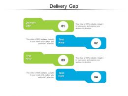 Delivery Gap Ppt Powerpoint Presentation Infographic Template Graphics Tutorials Cpb