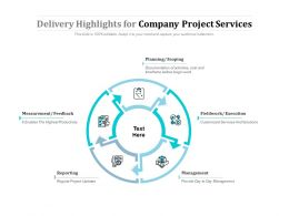 Delivery Highlights For Company Project Services