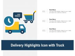 Delivery Highlights Icon With Truck