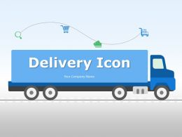 Delivery Icon Fast In Time Nonstop Shipment Timely Time Van Worker