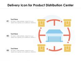 Delivery Icon For Product Distribution Center