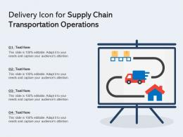 Delivery Icon For Supply Chain Transportation Operations