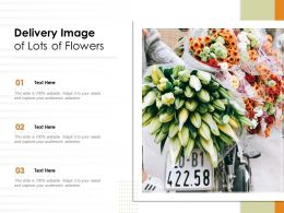 Delivery Image Of Lots Of Flowers