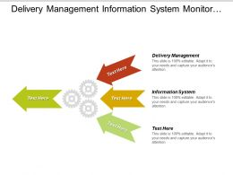 Delivery Management Information System Monitor Service Level Business Challenge
