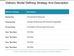 Delivery Model Defining Strategy And Description