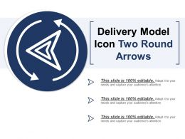 Delivery Model Icon Two Round Arrows
