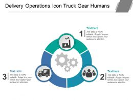 Delivery Operations Icon Truck Gear Humans