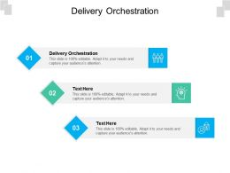 Delivery Orchestration Ppt Powerpoint Presentation Layouts Ideas Cpb