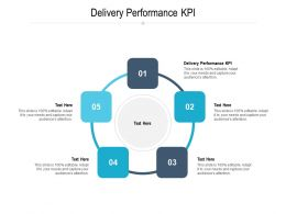 Delivery Performance KPI Ppt Powerpoint Presentation Slides Templates Cpb
