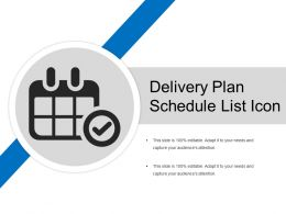 Delivery Plan Schedule List Icon