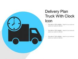 Delivery Plan Truck With Clock Icon