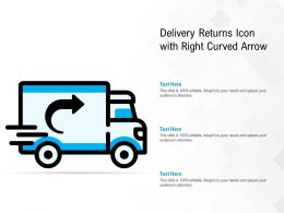 Delivery Returns Icon With Right Curved Arrow
