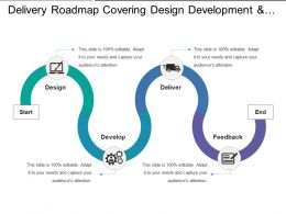 Delivery Roadmap Covering Design Development And Feedback