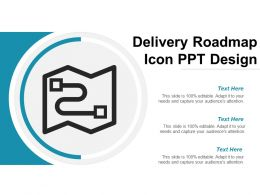 Delivery Roadmap Icon Ppt Design
