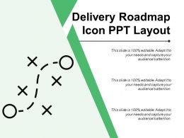 Delivery Roadmap Icon Ppt Layout