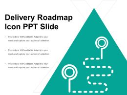 Delivery Roadmap Icon Ppt Slide