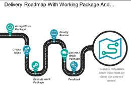 Delivery Roadmap With Working Package And Quality Review