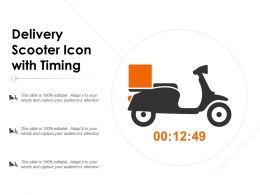 Delivery Scooter Icon With Timing
