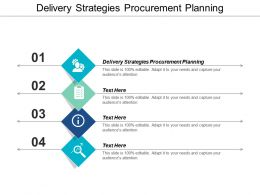 Delivery Strategies Procurement Planning Ppt Powerpoint Presentation File Designs Download Cpb