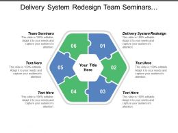 Delivery System Redesign Team Seminars Performance Metrics Buddy Sponsor