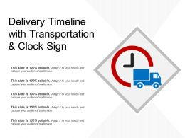 Delivery Timeline With Transportation And Clock Sign