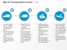 Delivery Truck Cargo Ship Plane Ppt Icons Graphics