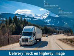 Delivery Truck On Highway Image
